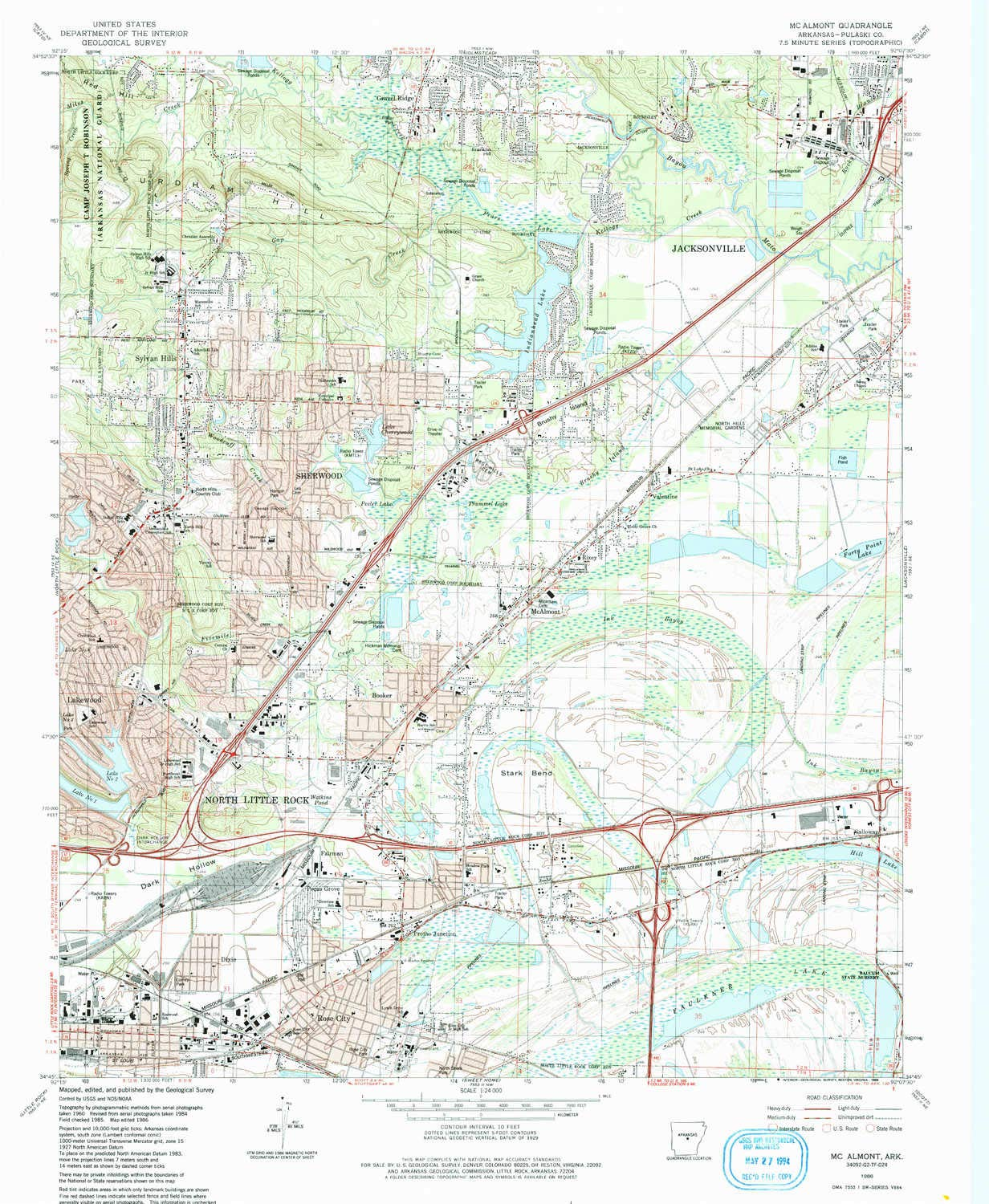 Amazon.com : YellowMaps Mc Almont AR topo map, 1:24000 Scale, 7.5 X ...