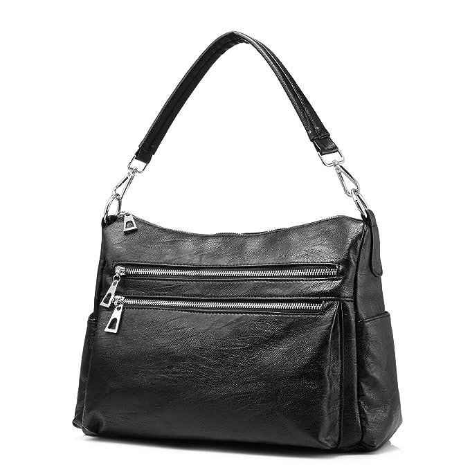 Amazon.com  Realer Women Handbags Hobo Shoulder Bags Multi-Pocket Zipper  Crossbody Bag  Clothing