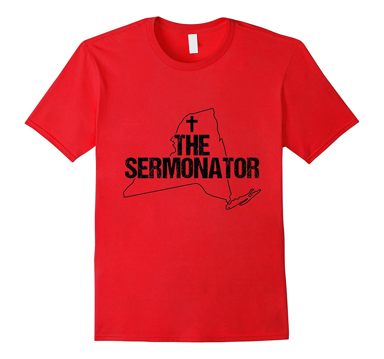 New York Sermonator Minister Preacher Priest Funny T-Shirt 2-TD