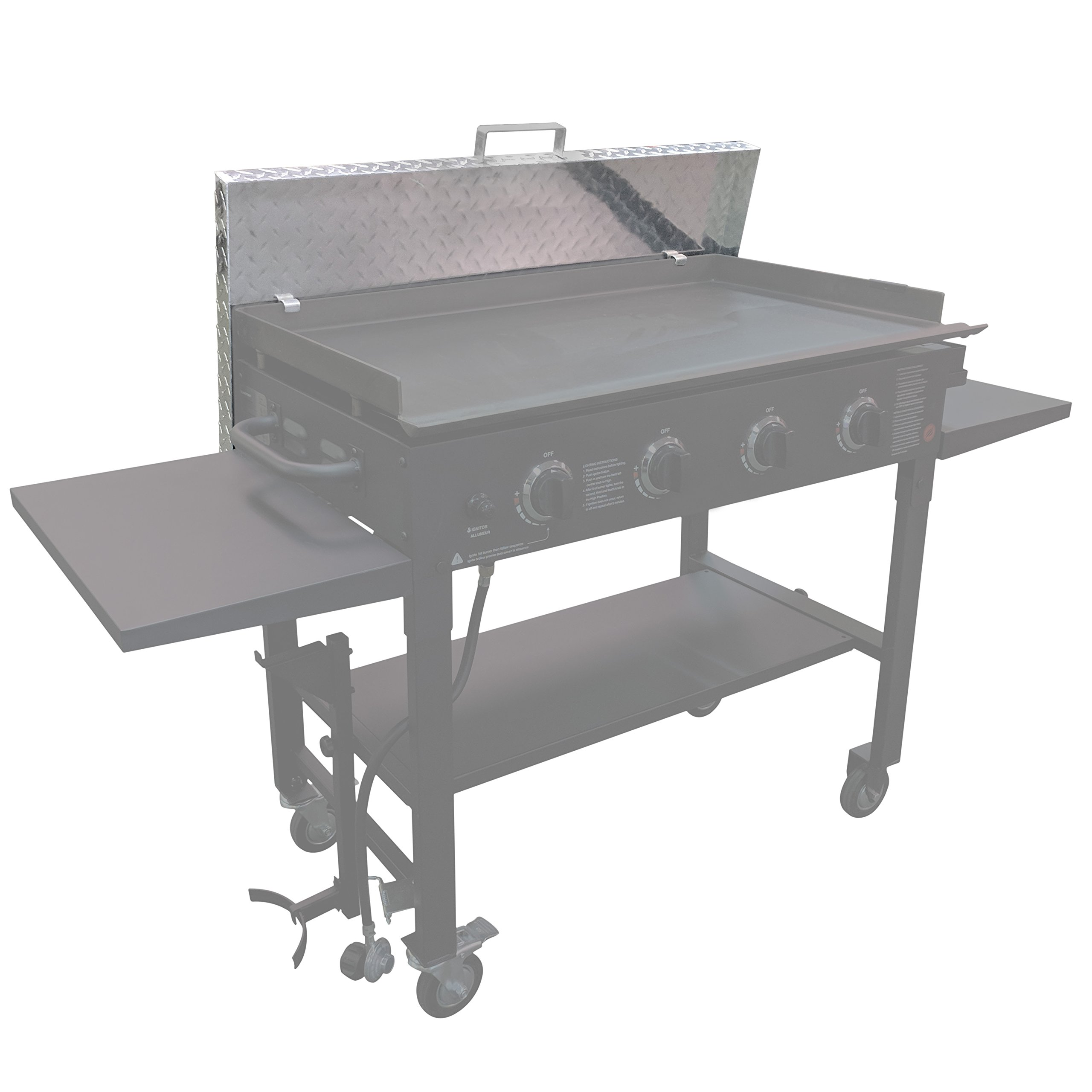 Titan Diamond Plated Aluminum Grill Cover Fits 36'' Blackstone Griddle by Titan Great Outdoors (Image #2)