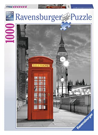 ravensburger 19475 - puzzle 1000 pezzi, london big ben e cabina ... - Cabina Telefonica