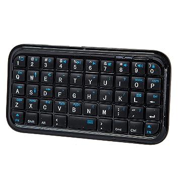 SODIAL(TM) Negro Mini Teclado Inal¨¢mbrico Bluetooth para iPhone 4,