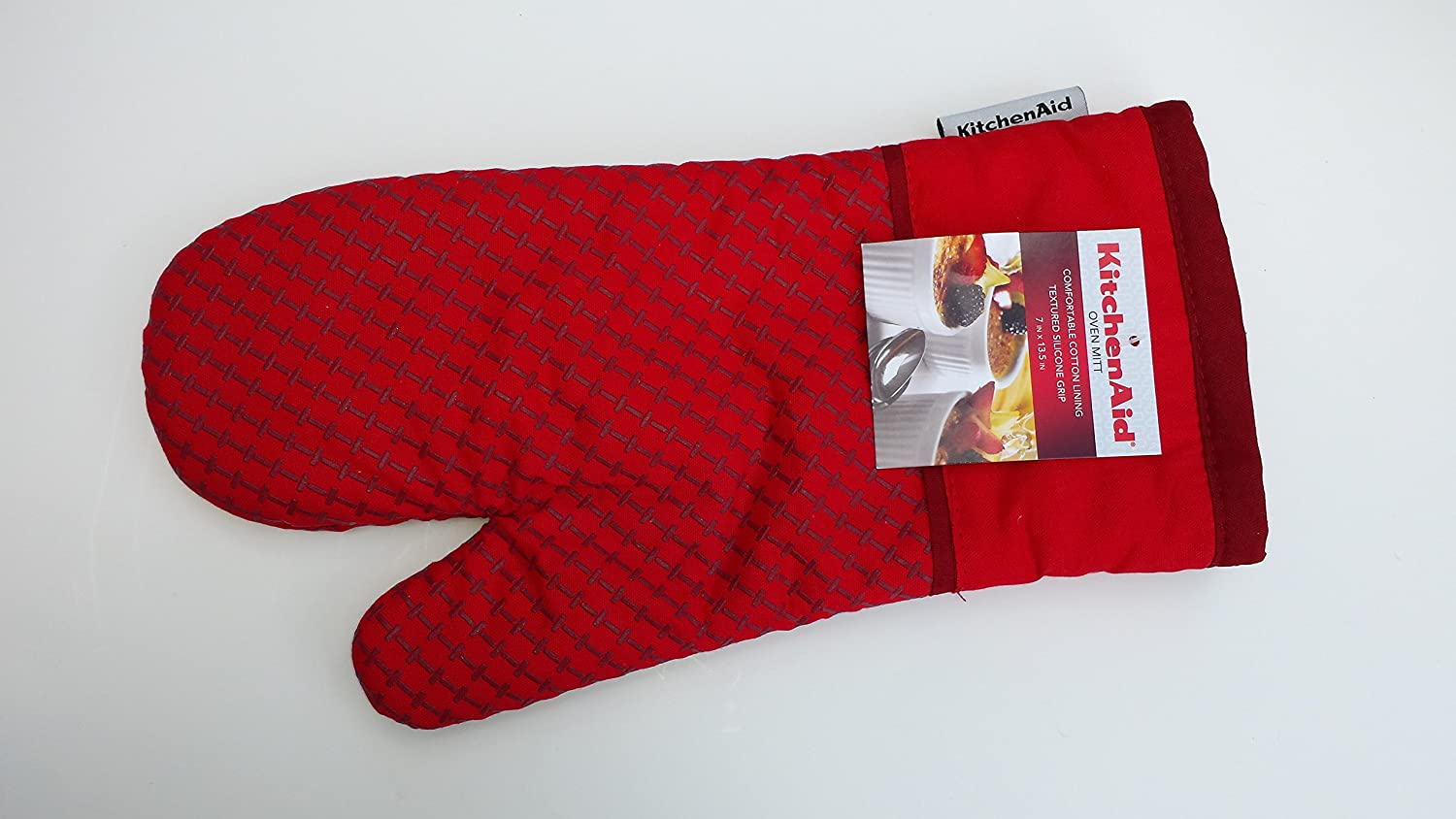 Superbe Amazon.com: Kitchenaid Cotton Oven Mitt With Textured Silicone Print Grips  (Fire Red): Home U0026 Kitchen