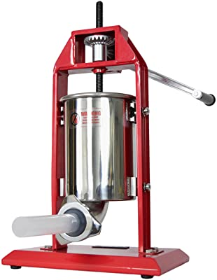New VIVO Sausage Stuffer Vertical Stainless Steel 3L/7LB 5-7 Pound Meat Filler ~ by VIVO (STUFR-V003)