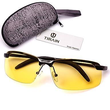 Men Sunglasses Polarized Night Vision Driving Glasses Yellow Lens MOe6b