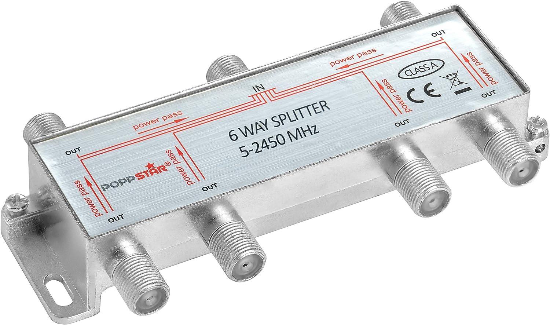 analog//digital//BK//unicable//HD//4K tauglich Poppstar Sat-Verteiler Antennenverteiler Splitter Umschalter 8-Fach f/ür TV,Antenne,Satellit,Kabel,Fernseher,Radio,LNB