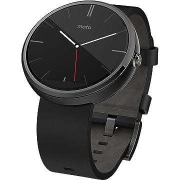 top best Motorola Moto 360 Modern Timepiece Smart Watch - Black Leather 00418NARTL