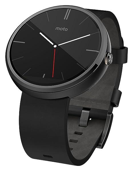 Motorola Moto 360 - Black Leather Smart Watch(Versin EE.UU ...