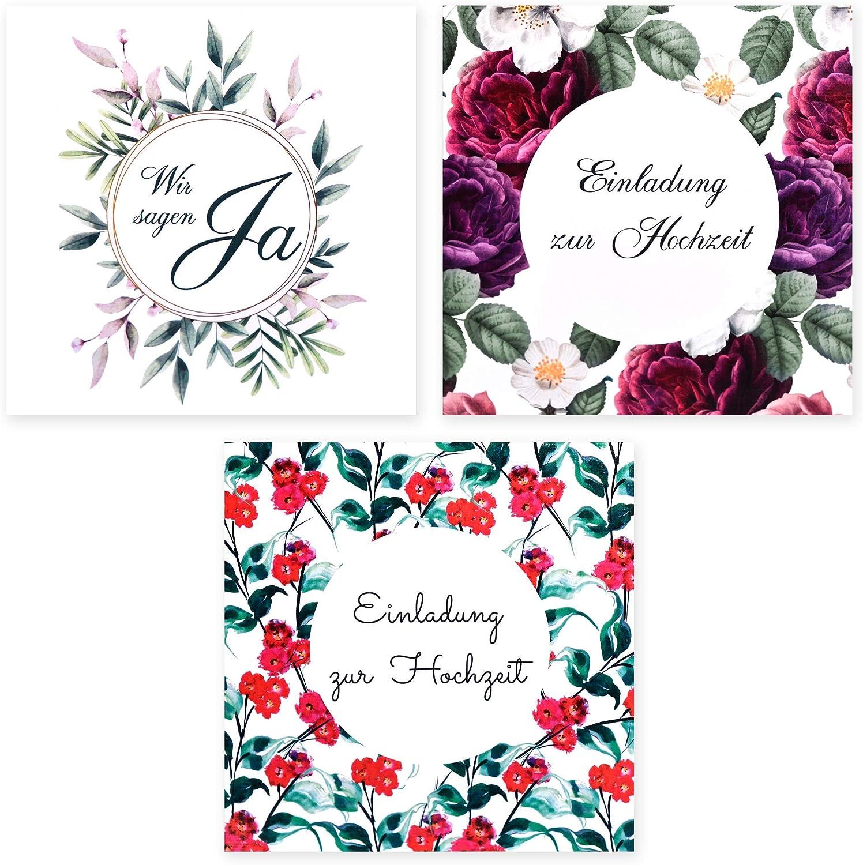 Hochzeitseinladungen Hochzeitskarten Fancy 10 x Hochzeit Einladungskarten mit Umschlag