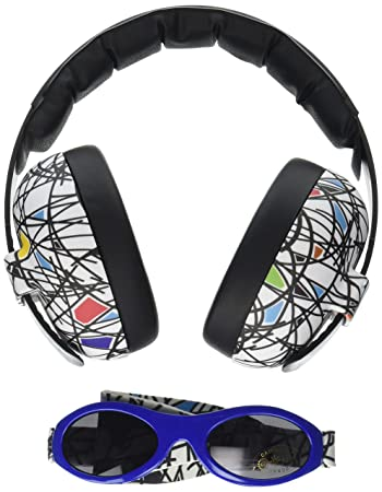 161785836a6 Amazon.com   Baby Banz Earmuffs and Infant Hearing Protection and Sunglasses  Combo 0-2 Years (Squiggle)   Baby