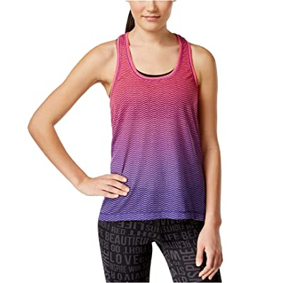 Ideology Womens Space-Dyed Ombre Burnout Tank Top