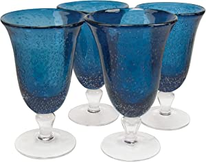 Artland Iris Ice Tea Glass, 18 oz, Slate Blue