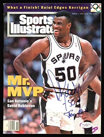 a9409cc06 Spurs David Robinson Signed 1994 Sports Illustrated Magazine  F77221 - JSA  Certified - Autographed NBA
