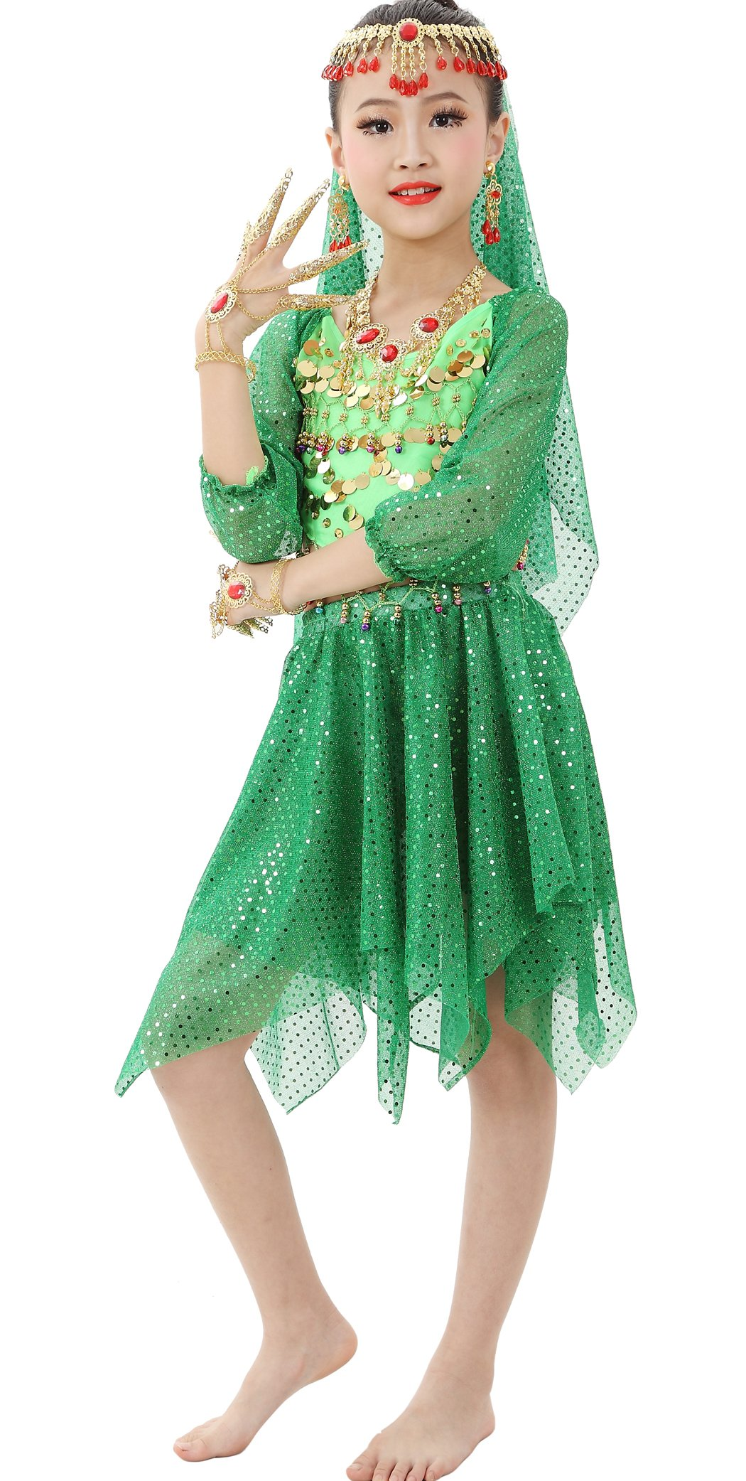 Astage Girls Performance Dance Costume Green