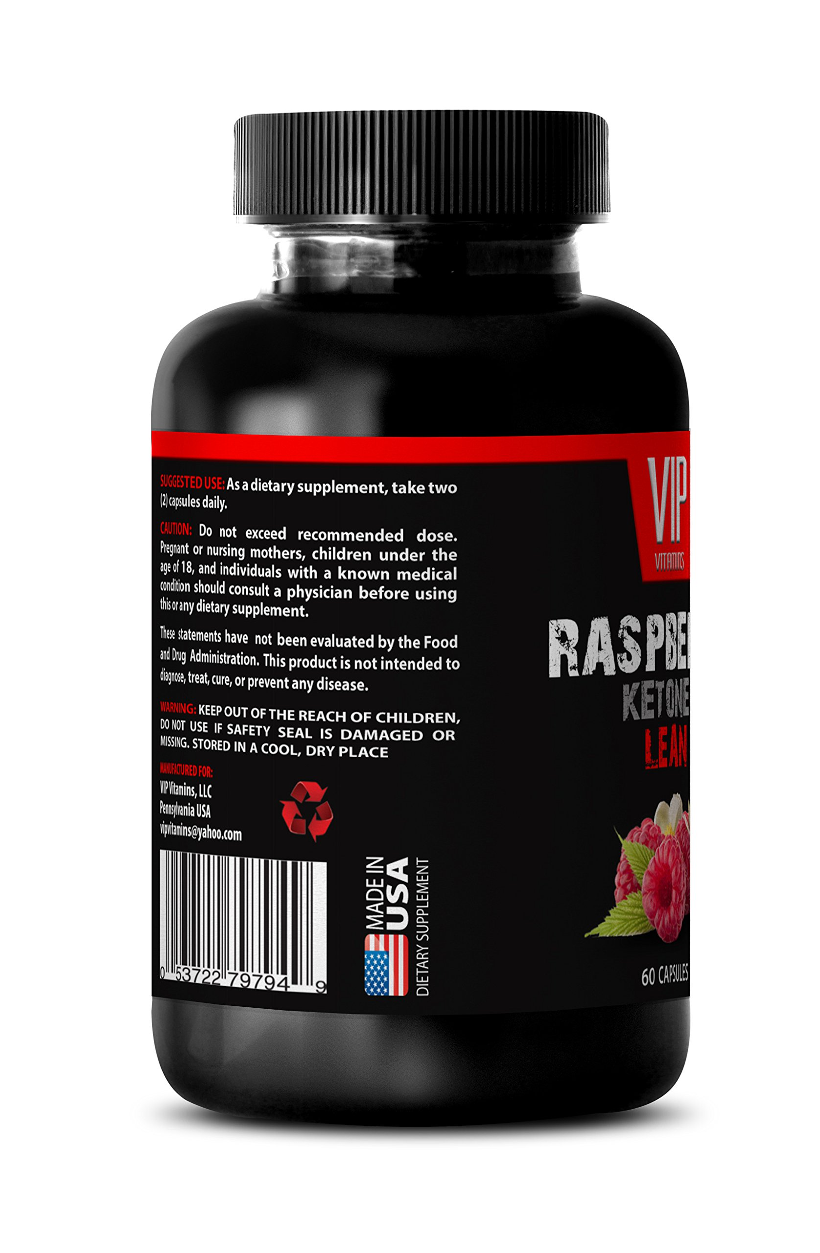 Blood sugar support supplements - RASPBERRY KETONES LEAN 1200 EXTRACT - Blood sugar support supplements - 6 Bottles 360 Capsules by VIP VITAMINS (Image #4)