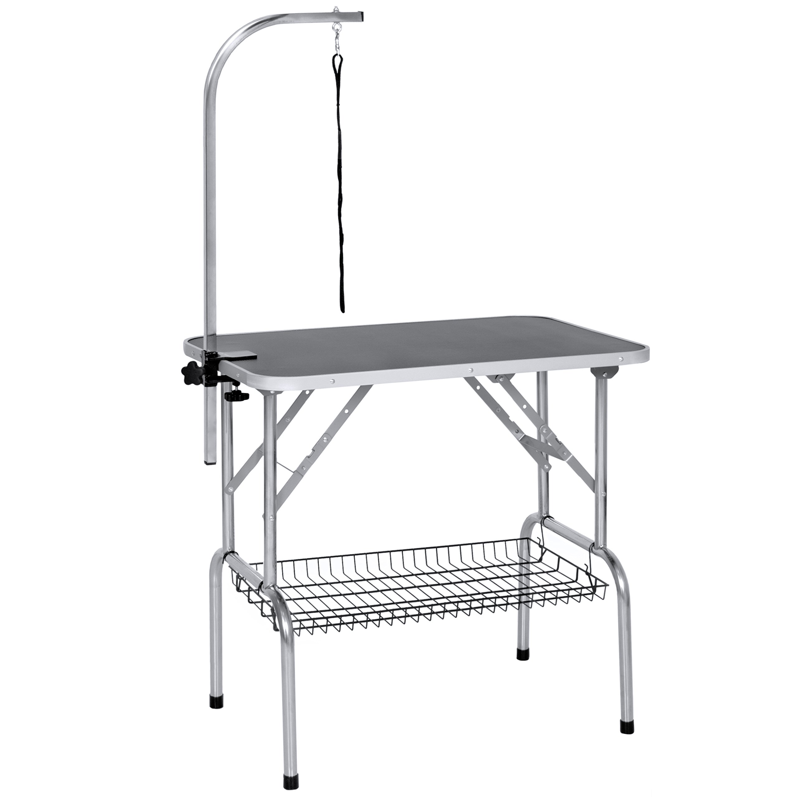 Best Choice Products 21'' x 35'' Pet Supplies Cat Dog Folding Grooming Table W/ Clamp-On Adjustable Arm