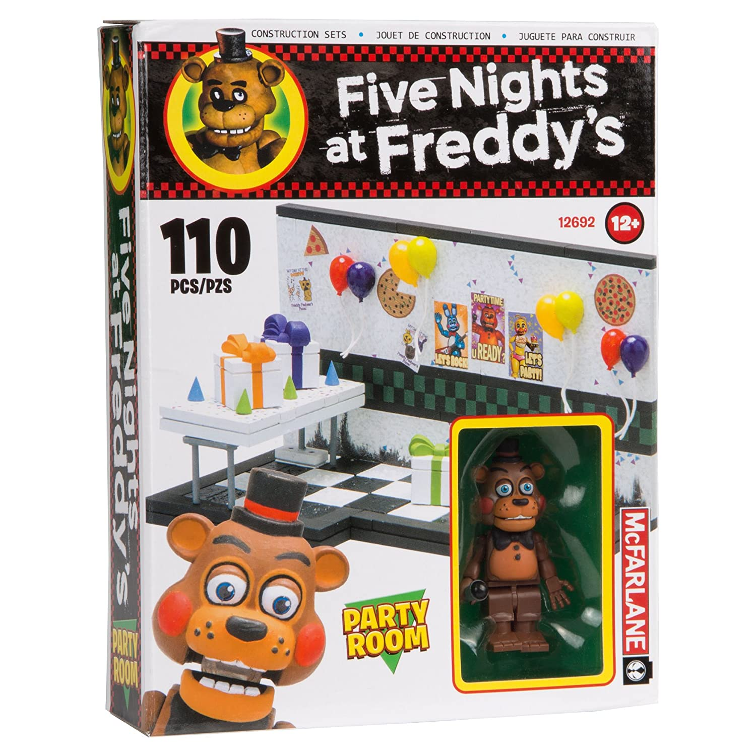 Amazon.com: McFarlane Toys Five Nights At Freddy's Party Room Construction Building Kit: Toys & Games