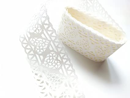 Amazon Com 5 Rolls Paper Lace Wedding Cards Roll Adhesive Easy To
