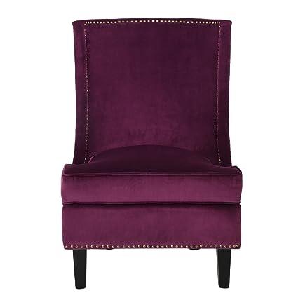 GDF Studio Adette Fuchsia Velvet Club Chair