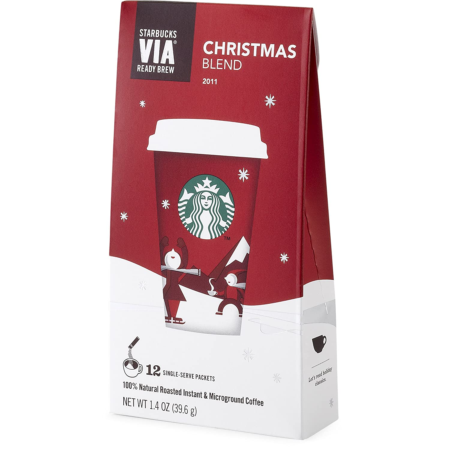 Amazon.com : Starbucks VIA® Christmas Blend Coffee : Instant ...