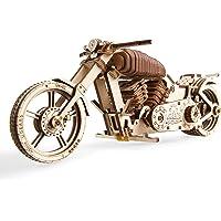Ugears 70051 Moto DIY Technique Véhicule de Projet VTT Bike VM-02 avec Moteur en Caoutchouc Modèle en Bois Multicolore Taille Unique