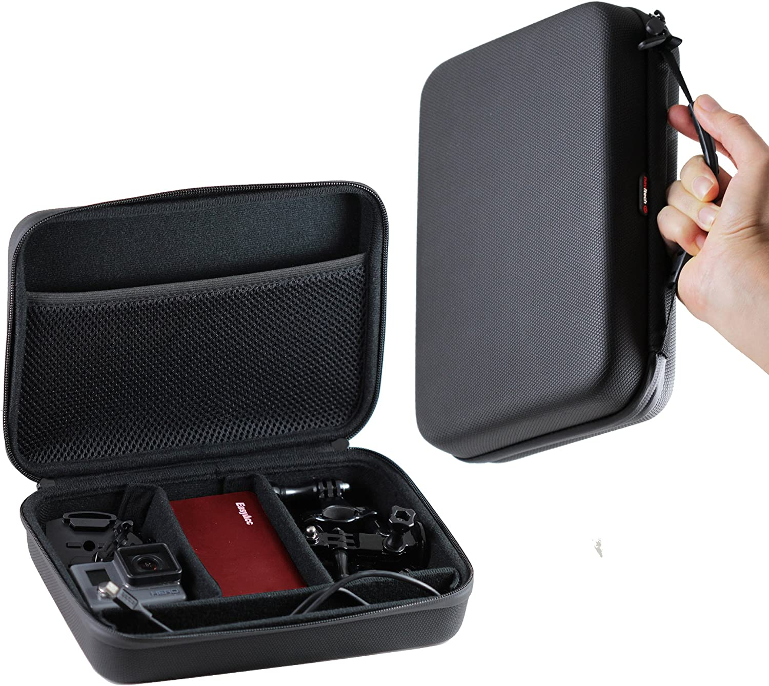 Navitech Black Shock Proof Camcorder Case//Cover Compatible with The Panasonic HC-VXF11
