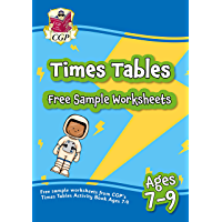 Free sample worksheets from CGP's Times Table Activity Book for Ages 7-9 (English Edition)