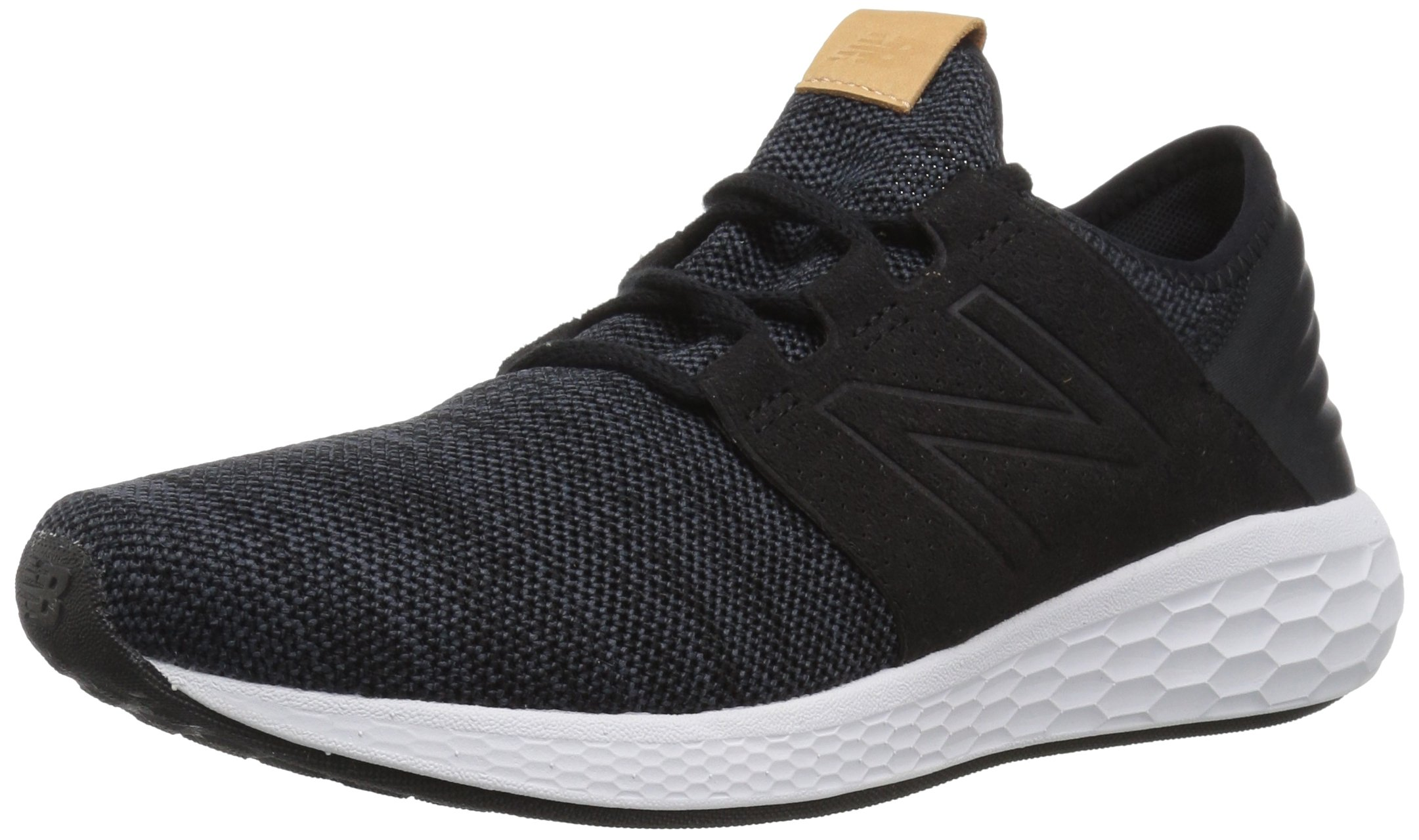 New Balance Men's Cruz V2 Fresh Foam Running Shoe, black/white, 12 D US