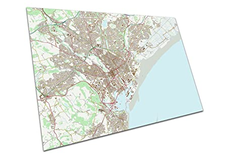 EAPoster CARDIFF WALES MAP A1 POSTER PRINT ART 594 x 841 mm: Amazon on