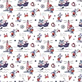 disney mickey mouse ahoy mickey and minnie fabric by the yard - Disney Christmas Fabric