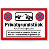 Parken Verboten Kunststoff Schild Lustig 30 X 20cm