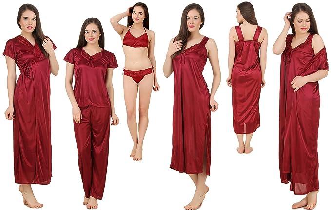 bc938dad71 Fasense Women s 6-Piece Nightdress Set  Amazon.in  Clothing ...