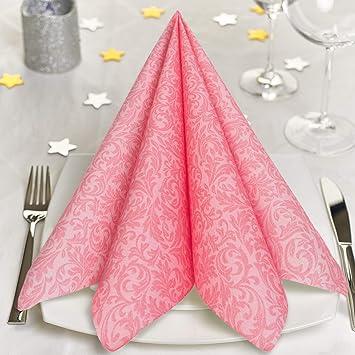 Grubly Servietten Rosa Pink Stoffahnlich 50 Stuck Hochwertige