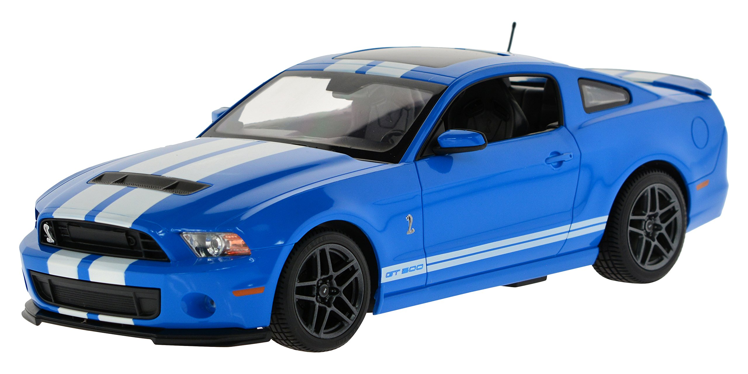 Carmel 1:14 Ford Shelby Gt500 2.4Ghz with Lights Rechargeable Battery, Blue by Carmel