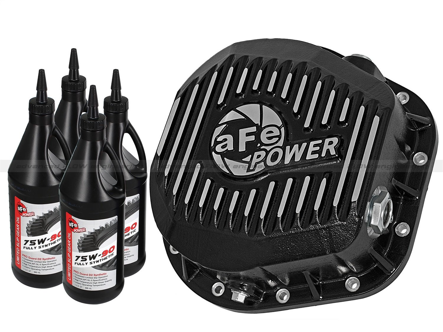 aFe Power 46-70022-WL Pro Series Machined Rear Differential Cover with Gear Oil by aFe Power (Image #8)