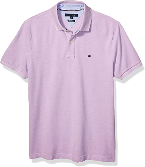 Tommy Hilfiger Men/'s Gray Classic Fit Short Sleeve Polo Shirt