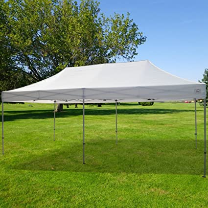Ez Up Canopy 10x20 >> Impact Canopy 10 X 20 Pop Up Canopy Tent Straight Leg Shelter With Commercial Grade Steel Frame And Roller Bag White