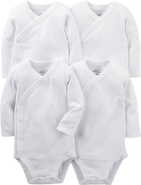 Pacco da 5 Simple Joys by Carters 5-Pack Neutral Long-Sleeve Bodysuit Bimbo 0-24