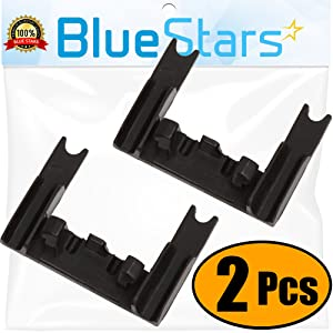 Ultra Durable W10250160 Rack Adjuster Arm Clip-lock Replacement Part by Blue Stars – Exact Fit For Whirlpool & Kenmore Dishwashers – Replaces WPW10250160 - PACK OF 2