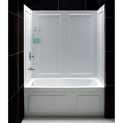 kit dreamline doors base wall tub bases exotichomeexpo best glass pinterest qwall bathtub back shbw images shower on and walls