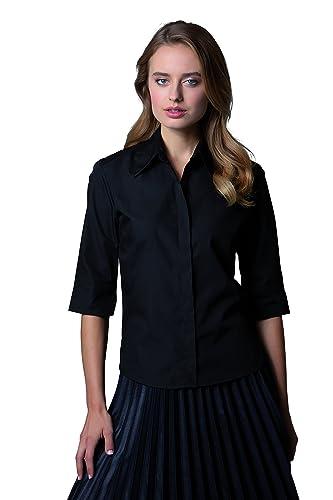 Kustom Kit- Camisa de manga tres cuartos Continental para mujer