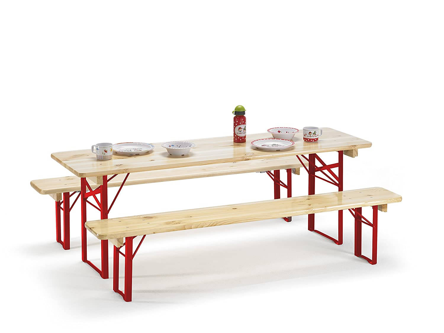 Amazon.de: Kinder Partygarnitur EDITION 150x45x52cm Biertisch ...