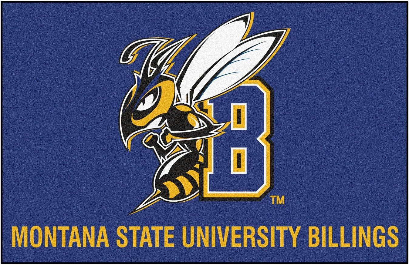 Fanmats Ncaa Montana State University Team Logo Billings Starter Mat 19 X30 Sports Fan Home Decor Sports Outdoors
