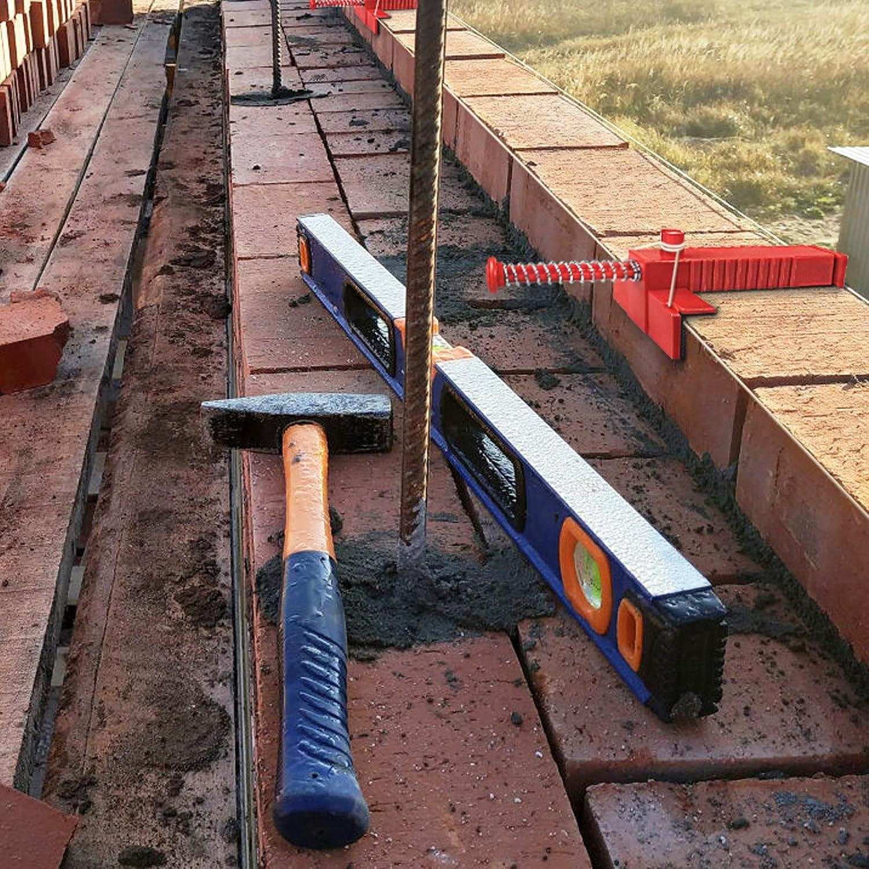 Fijador de Herramientas de Alba/ñiler/ía de Alambres y Cajones Para la Construcci/ón de Edificios Tirador de Cables de Ladrillos 2 Piezas Forro de Abrazaderas de Ladrillo