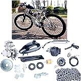 YaeCCC UPGRADED 80cc 2-Stroke Motor Engine Kit Gas for Motorized Bicycle Bike Silver