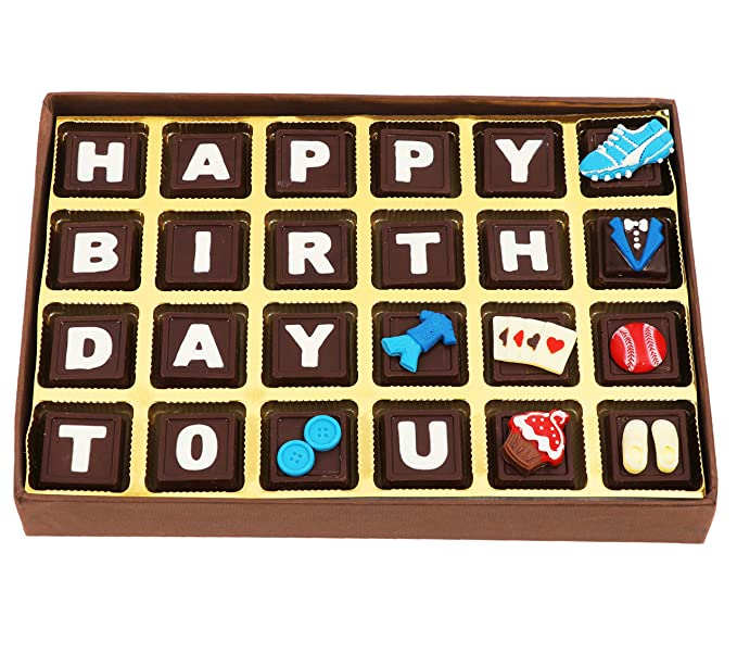 Happy Birthday Chocolate Box A Special Message Chocolate Gift Box