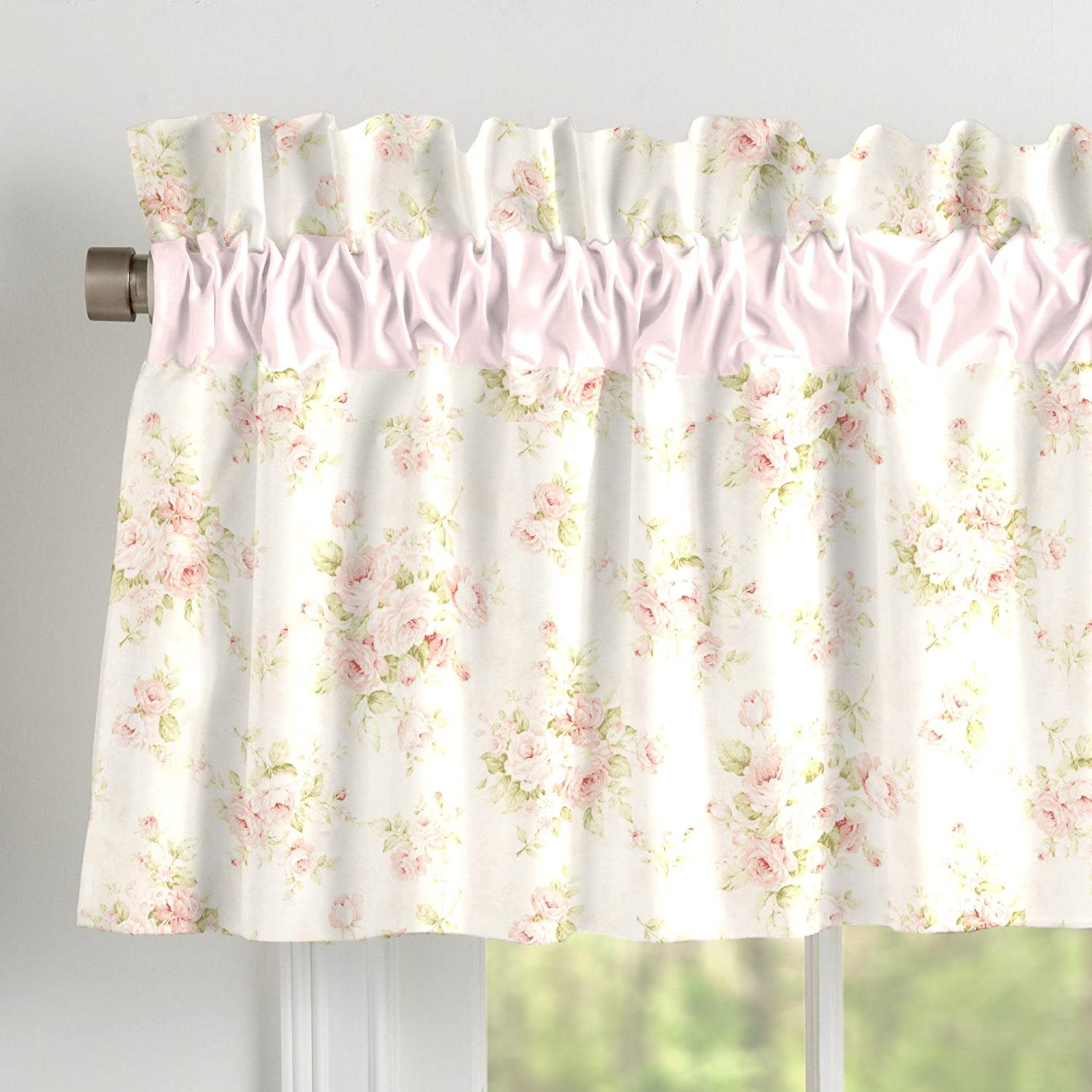 Carousel Designs Shabby Chenille Window Valance Rod Pocket