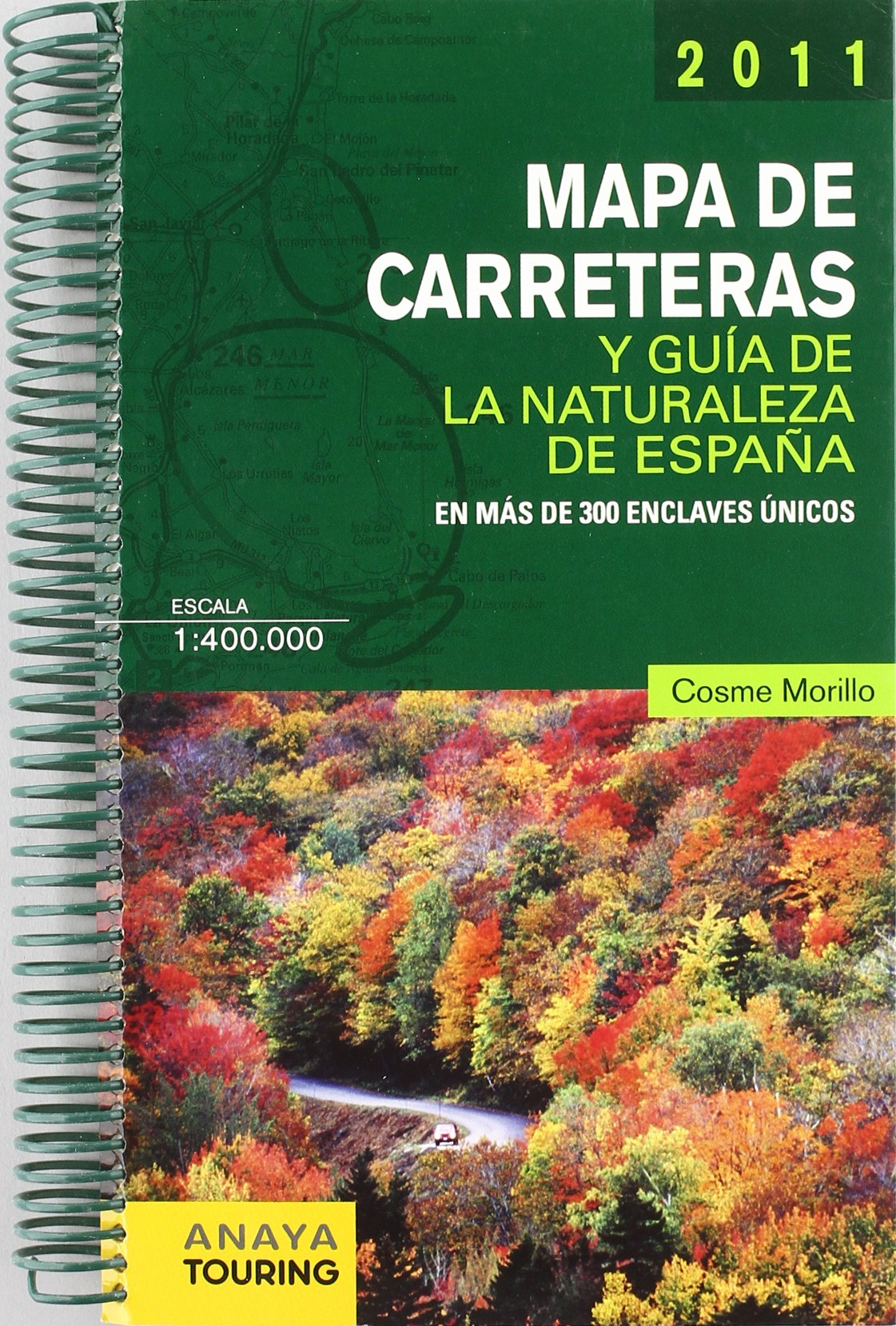 Mapa de Carreteras y Guía de la Naturaleza de España 1:400.000 ...