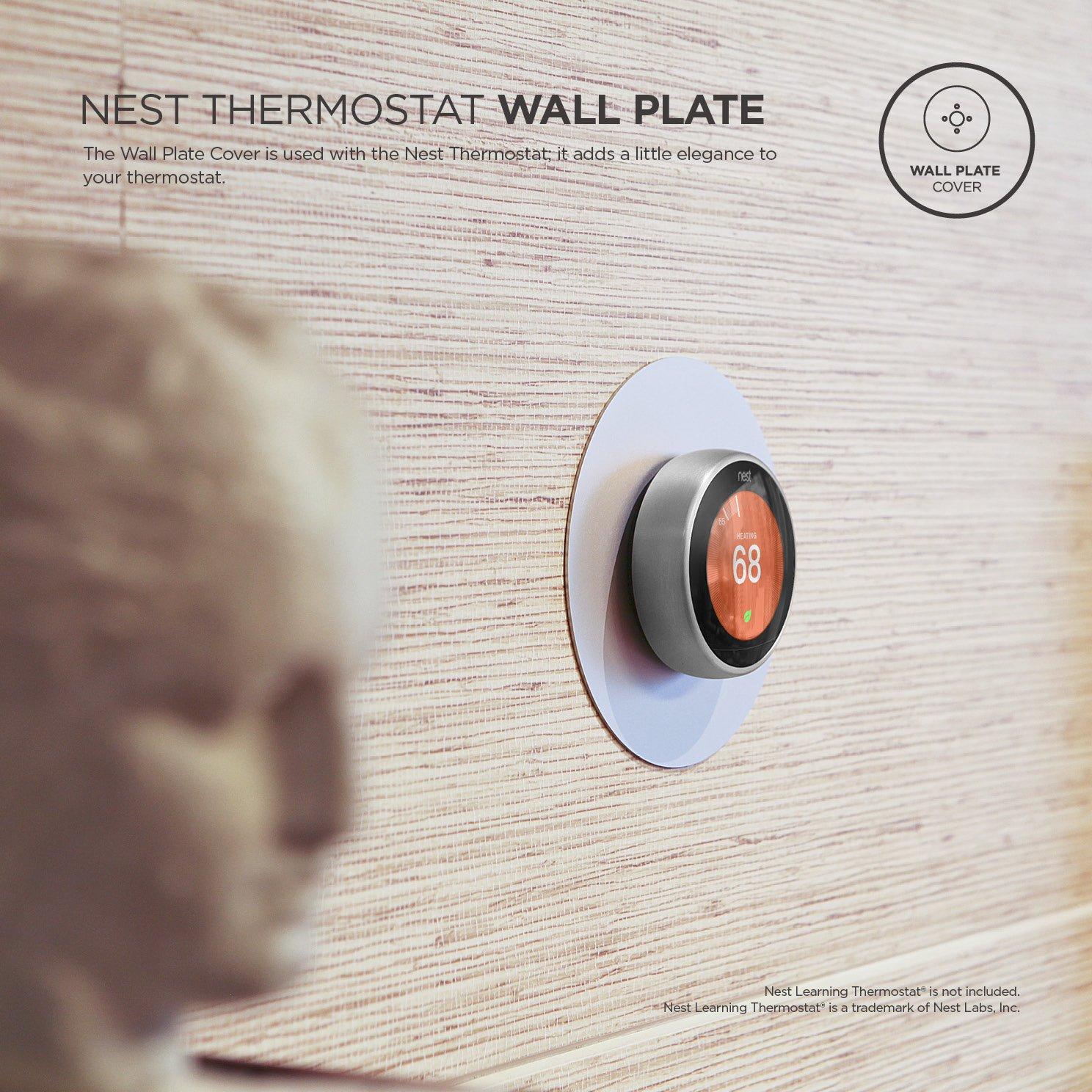 Elago Cubierta de la placa de pared para el termostato de aprendizaje de nidos Plata: Amazon.es: Hogar