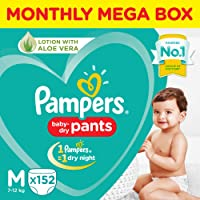 Pampers New Monthly Box Pack Diapers Pants, Medium, (152 Count)